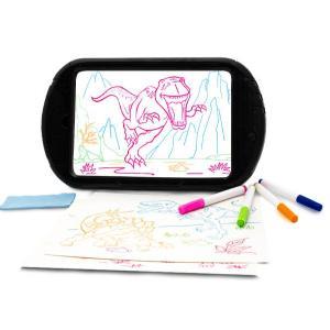 tavoletta da disegno incandescente di dinosauro