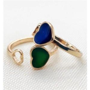 anello a cuore che cambia colore in base alla temperatura