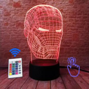iron man ologramma lampada rossa