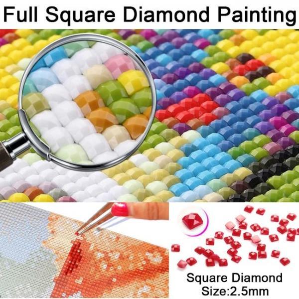 Dipinto con diamanti in 5d dimensione dei diamanti