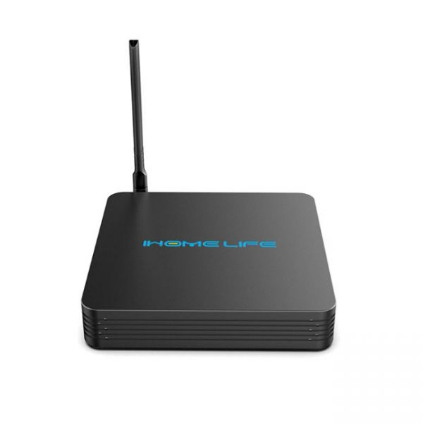 HQL MAX+ IHOMELIFE Android TV Box - vista frontale