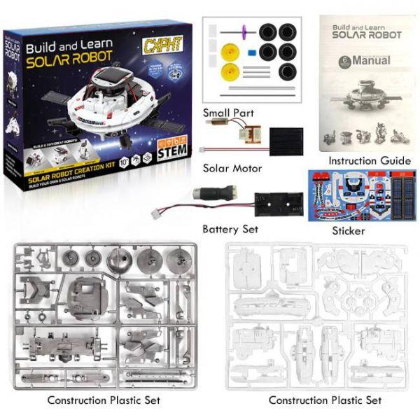 Kit Robot Solare Educativo 6 in 1 di STEM quale pacchetto include