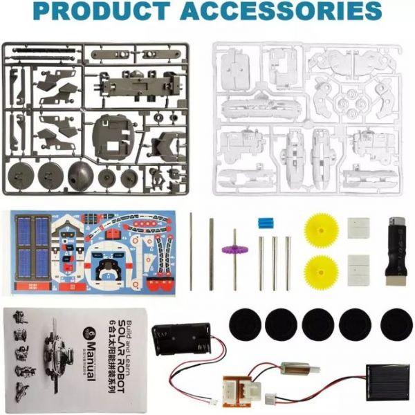 Kit Robot Solare Educativo 6 in 1 di STEM con tanti accessori