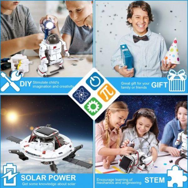 Kit Robot Solare Educativo 6 in 1 di STEM un bel regalo per i bambini