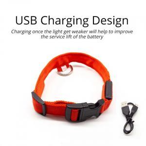 Collare per cani con led anti-smarrimento caricato tramite USB