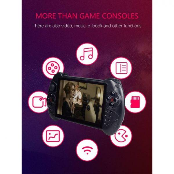 Console di gioco portatile Android da 5,5 pollici con vari multimedia