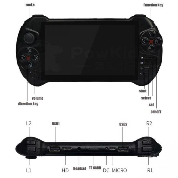 Console di gioco portatile Android da 5,5 pollici - dimensioni e specifiche