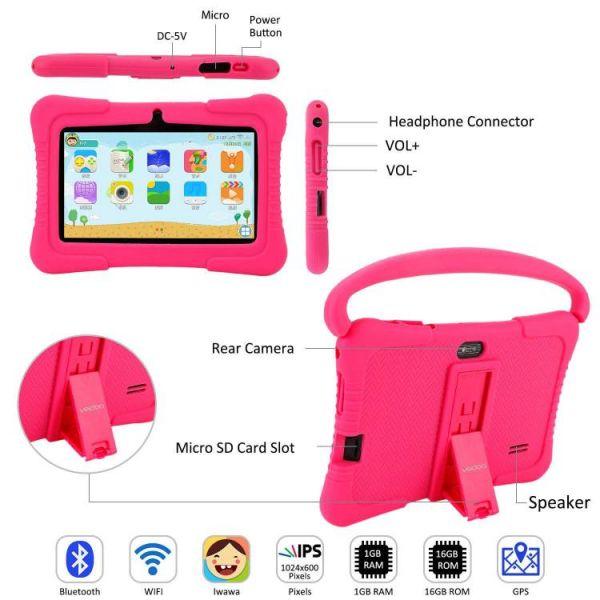 Tablet per bambini che i genitori possono controllare con molti porti