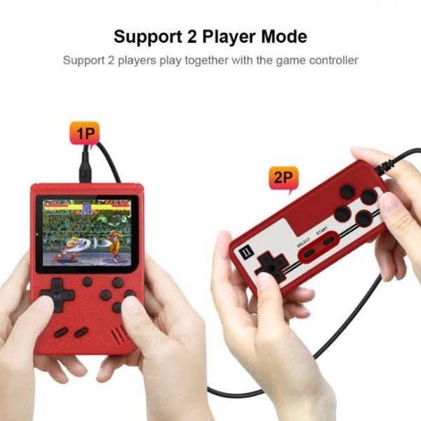 Console di gioco portatile retrò a 8 bit con 400 giochi integrati e modalità a 2 giocatori