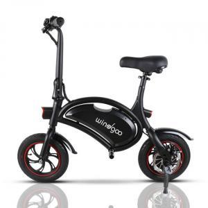Bicicletta elettrica nera pieghevole facile