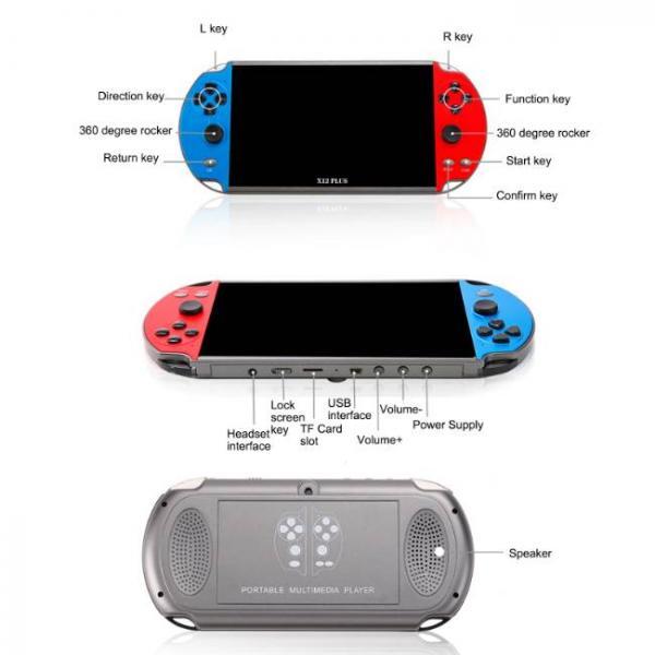 potente console di gioco portatile che supporta i giochi PS1 e SNES con bottoni lisci