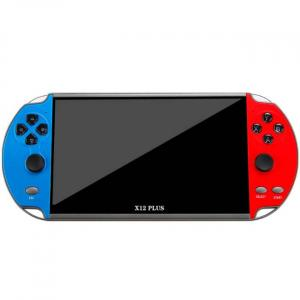 Rosso e blu potente console di gioco portatile che supporta i giochi PS1 e SNES