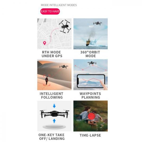 drone durevole e stabile con fotocamera Sony HD con varie modalità di volo