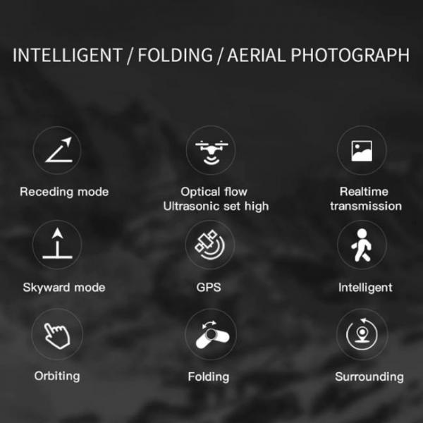 drone durevole e stabile con fotocamera Sony HD e fotografia aerea intelligente