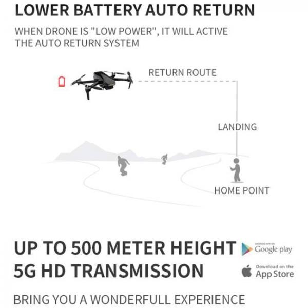 drone durevole e stabile con fotocamera Sony HD e tasto di ritorno automatico