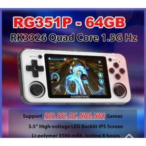 console di gioco portatile con giochi PS1 e N64 e grande capacità di memoria
