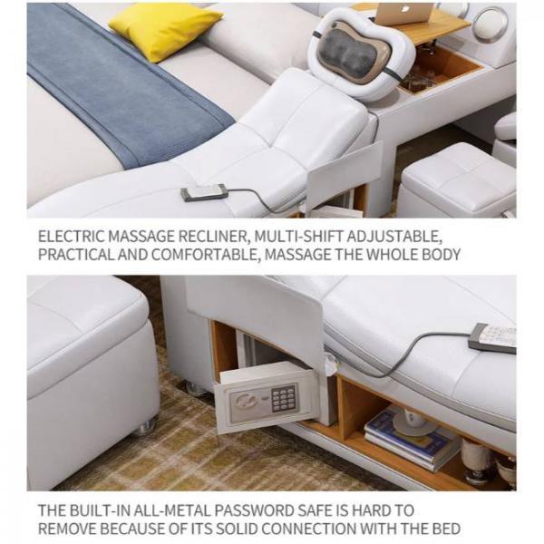lettino da massaggio intelligente con molteplici funzioni e cassaforte metallica integrata