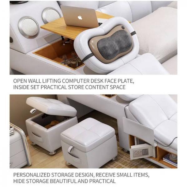 lettino da massaggio intelligente con molteplici funzioni e scrivania sollevabile per laptop