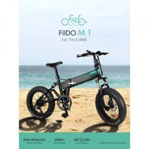 Bicicletta elettrica Fiido M1 con grandi pneumatici e alto chilometraggio