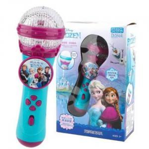 Frozen 2 Microfono Karaoke Stereo Portatile con Musica - Pacchetto
