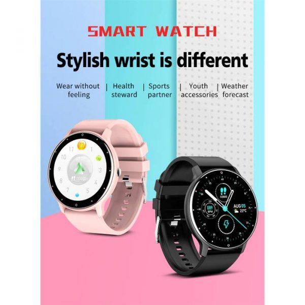 Smart Watch Sport Fitness Touch Screen impermeabile con molteplici funzioni