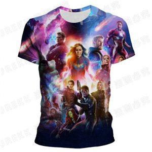 T-shirt stampata in 3d Avengers a basso prezzo