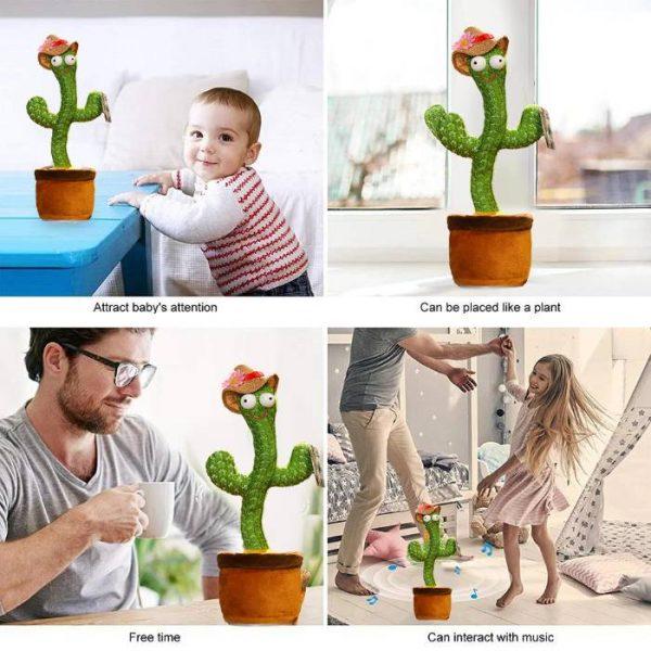 cactus parlante e danzante che interagisce con la musica
