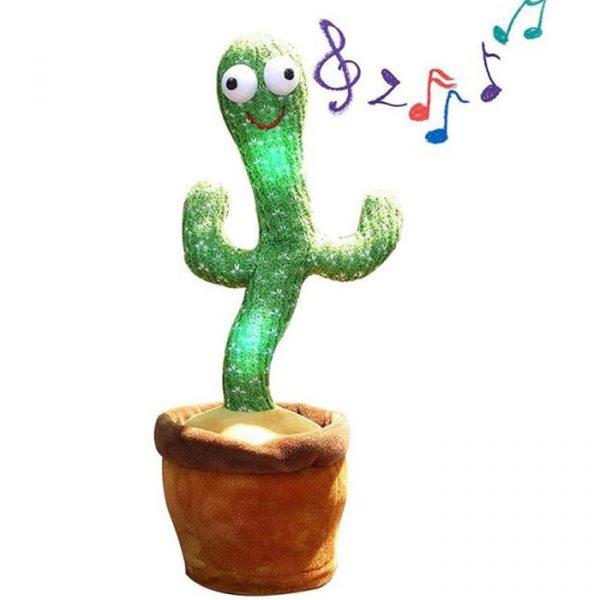 cactus parlante e danzante con un sacco di canzoni