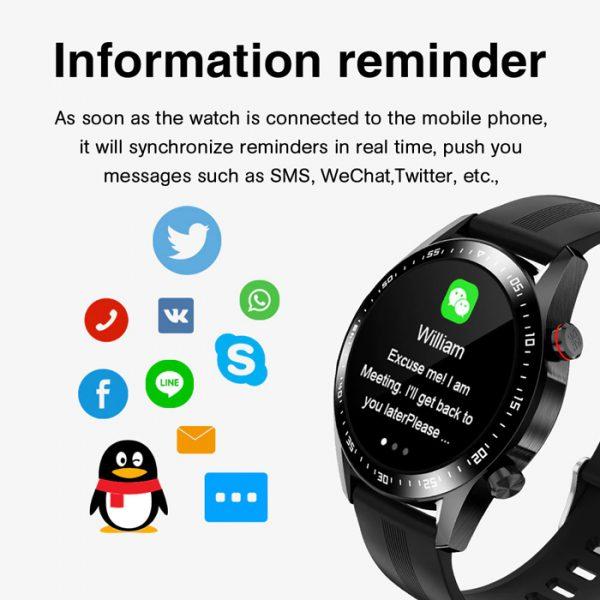 smartwatch sportivo completamente impermeabile con promemoria di informazioni