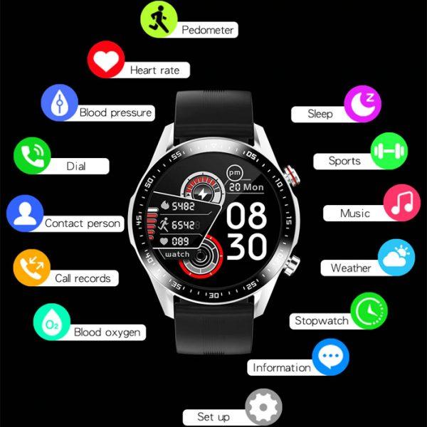 smartwatch sportivo completamente impermeabile con molte funzioni