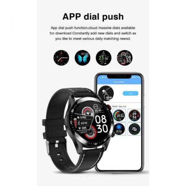 smartwatch sportivo completamente impermeabile con notifiche push sul quadrante dell'applicazione