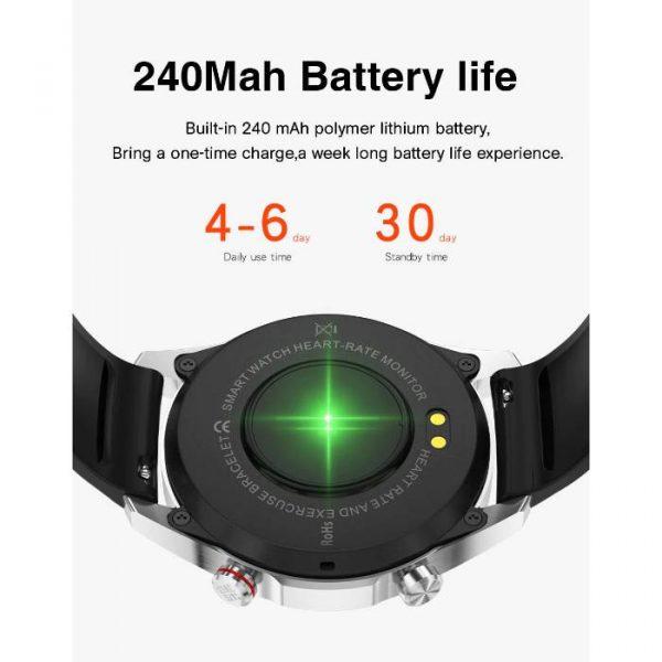 smartwatch sportivo completamente impermeabile con batteria di grande capacità