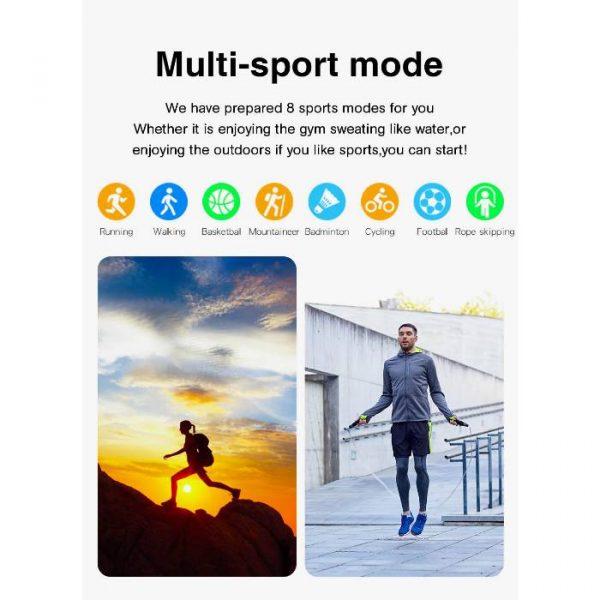 smartwatch sportivo completamente impermeabile con più esercizi