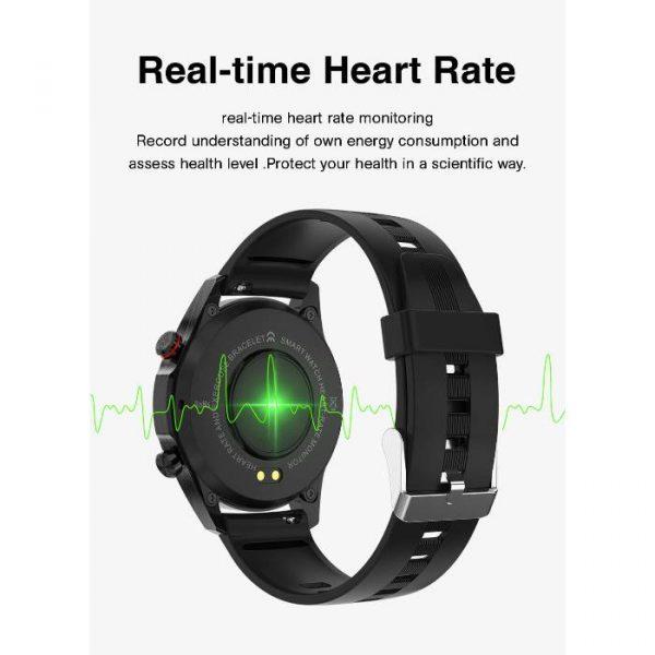 smartwatch sportivo completamente impermeabile con frequenza cardiaca in tempo reale